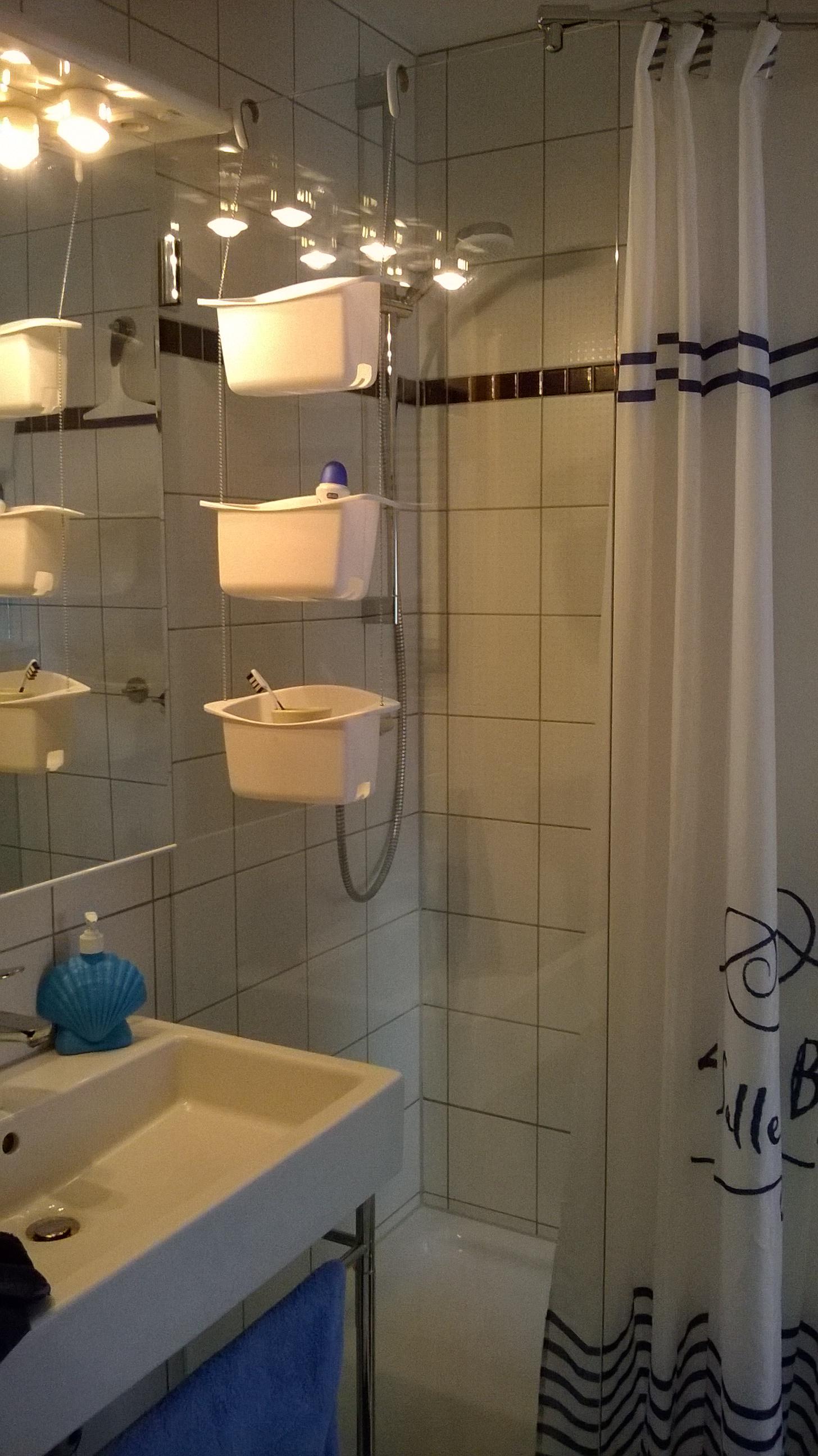 Ablagekörbe in der Dusche