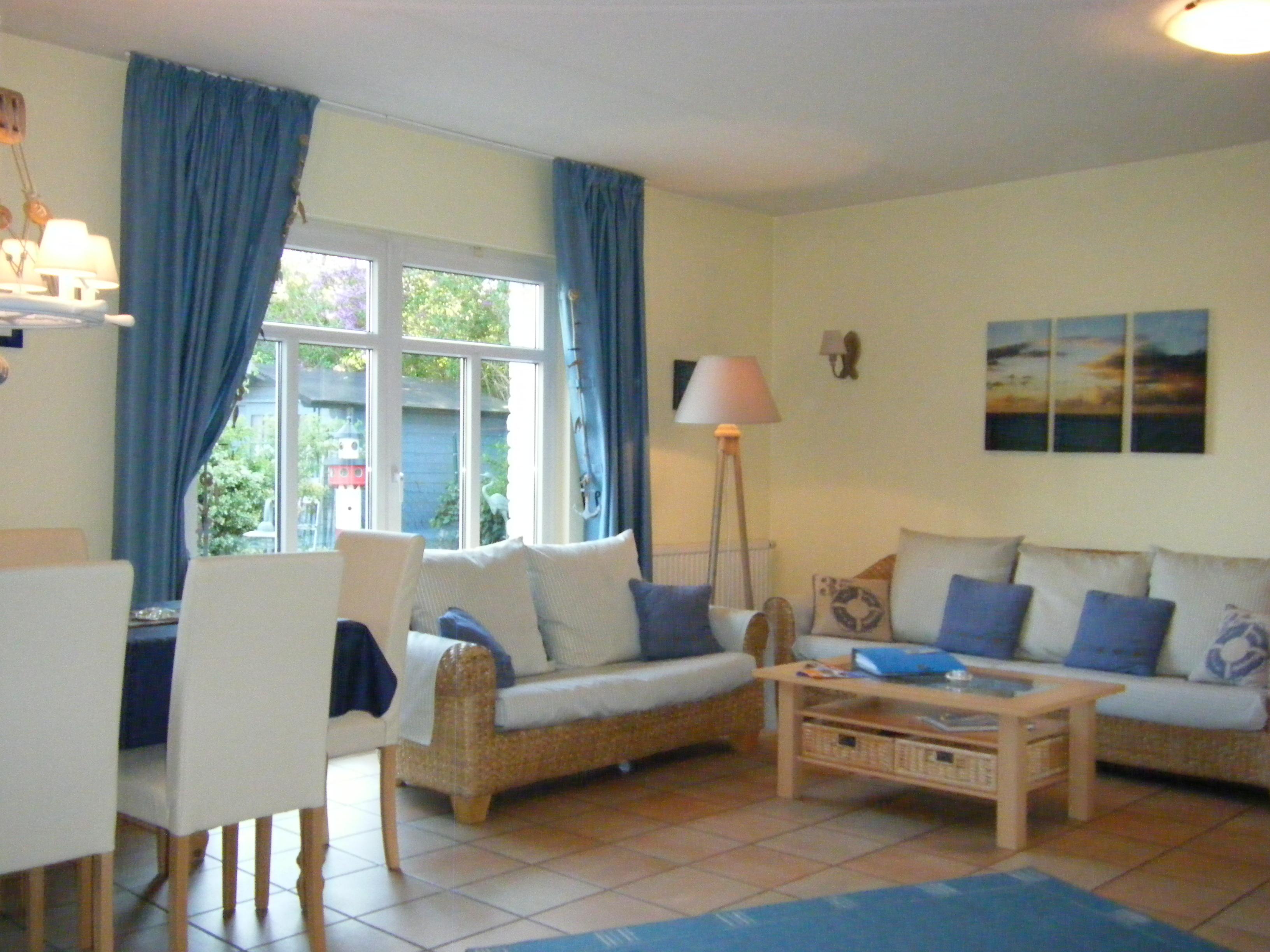 Wohnzimmer im Ferienhaus Gulet